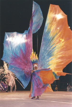 Purple Fan Costume Carnival Trinidad
