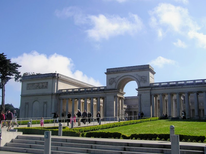 The Legion of Honor Museum houses European art and sculpture, including some Rodin pieces